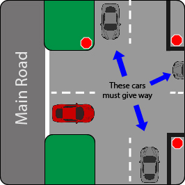 learn how to give way in a parking lot