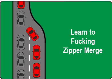 Learn to zipper merge