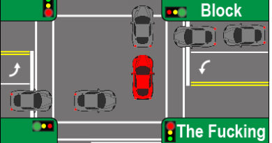 Learn Not To Block The F$%*ing Intersection
